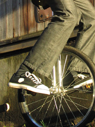 Unicycling with the Blackspot Sneaker