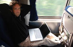 Laying back on the Coast Starlight Express