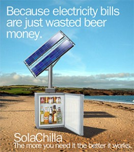 The Solar-Powered Beer Fridge