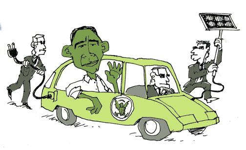 Obama goes  Green