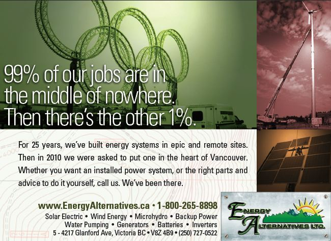Energy Alternatives Half Page Ad