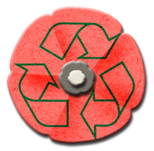 recycled poppy