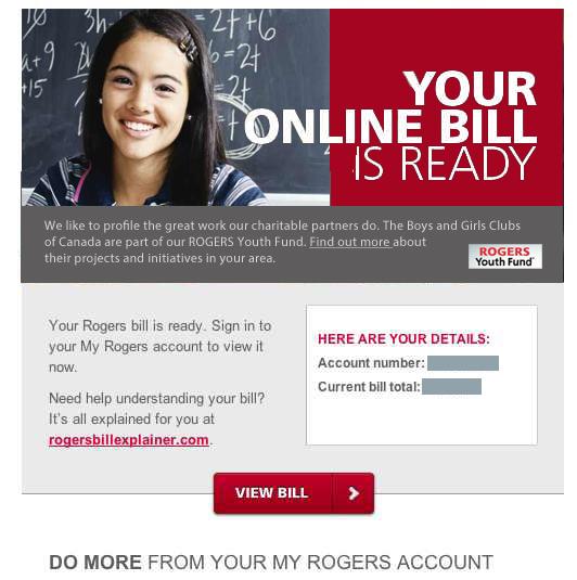 A smarter ROGERS Online Bill