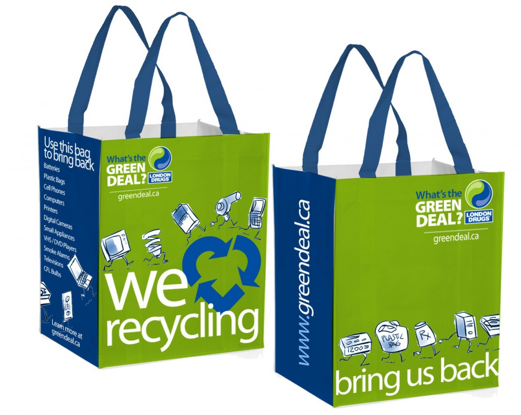 London Drugs recycling bags