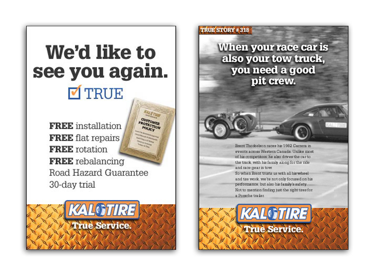 Kal Tire True Service Posters