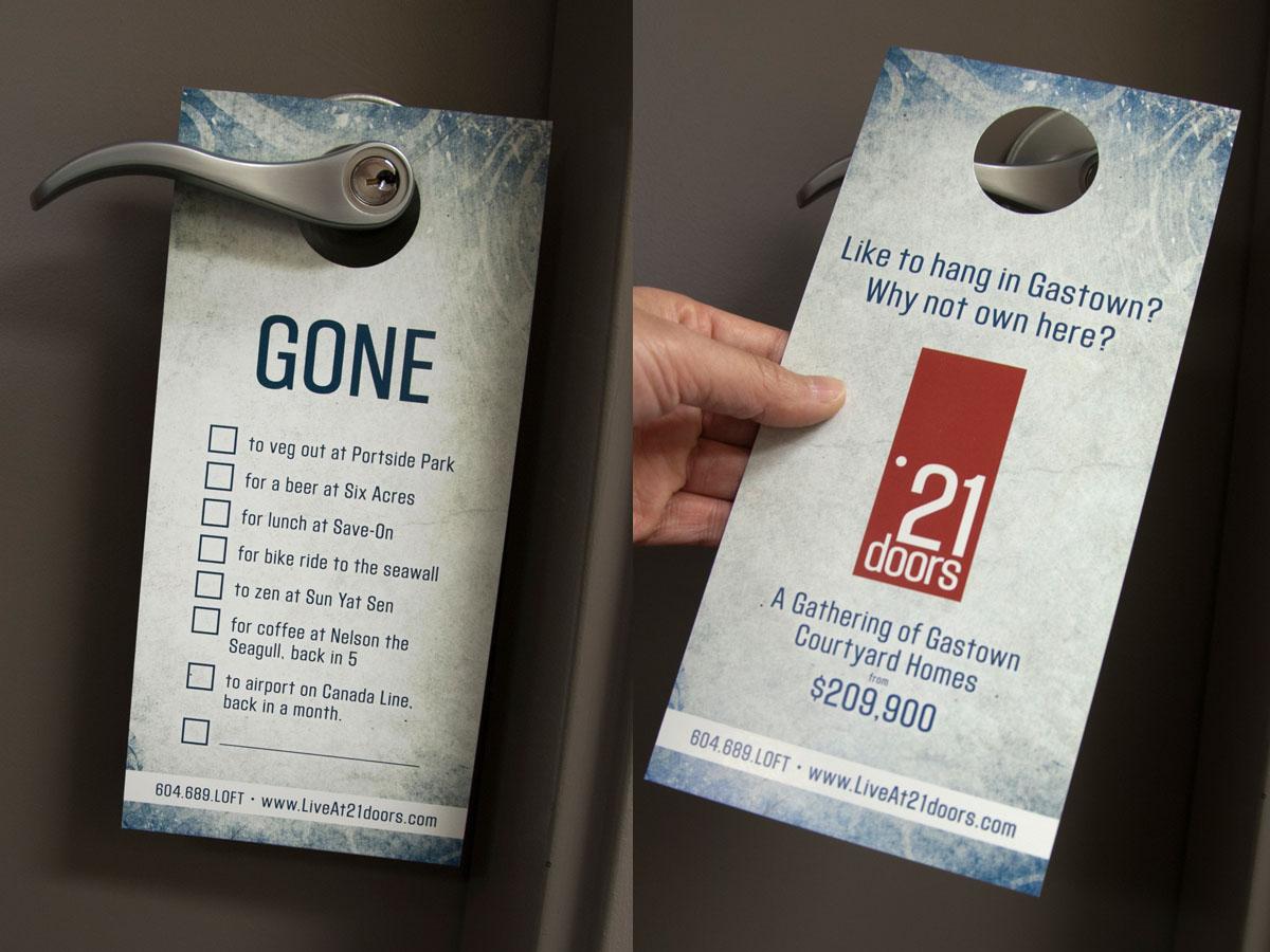 21 Doors Promo Card hanger