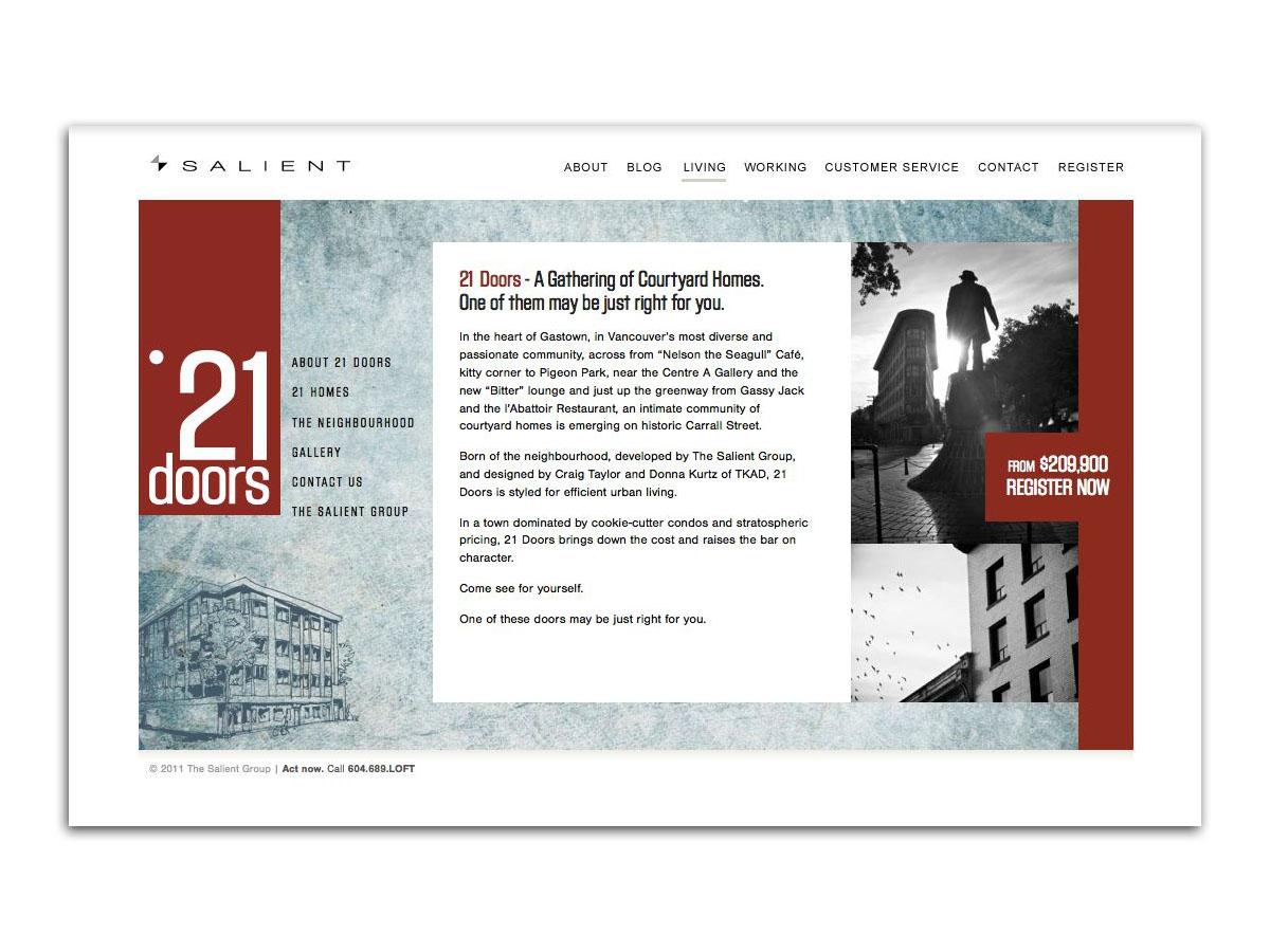21 Doors website 1