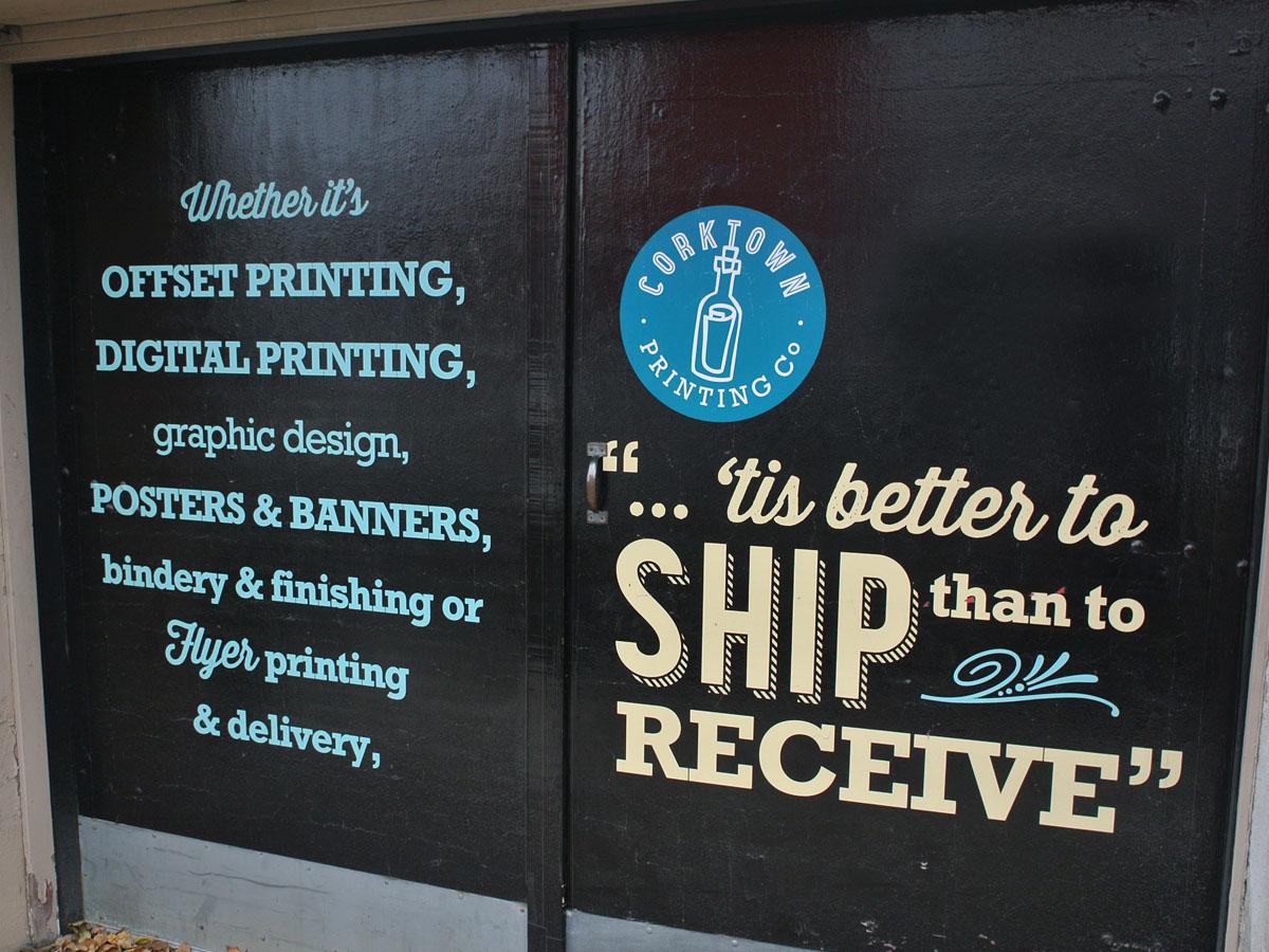 Corktown Printing Signage