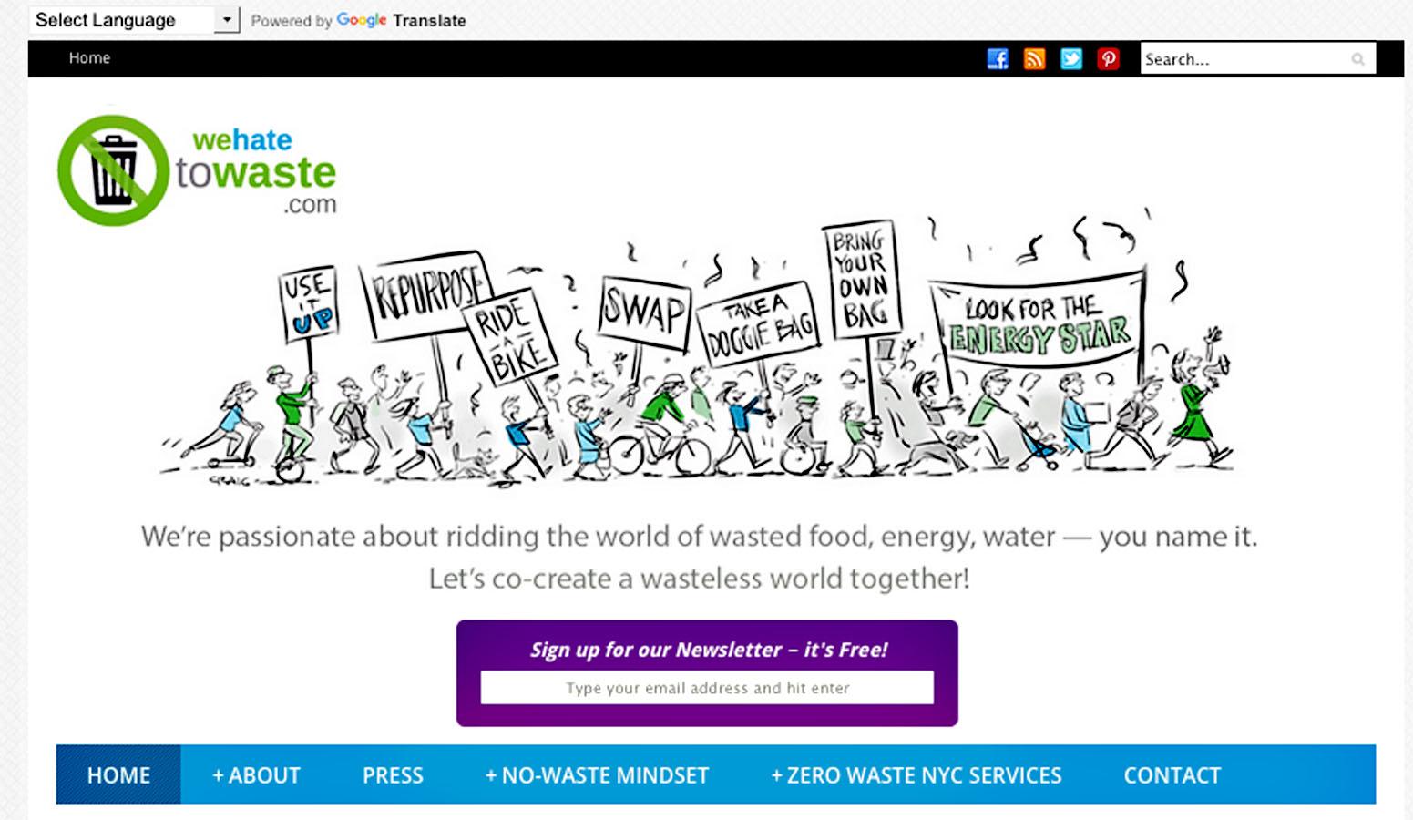 Zero Waste Website Illustration