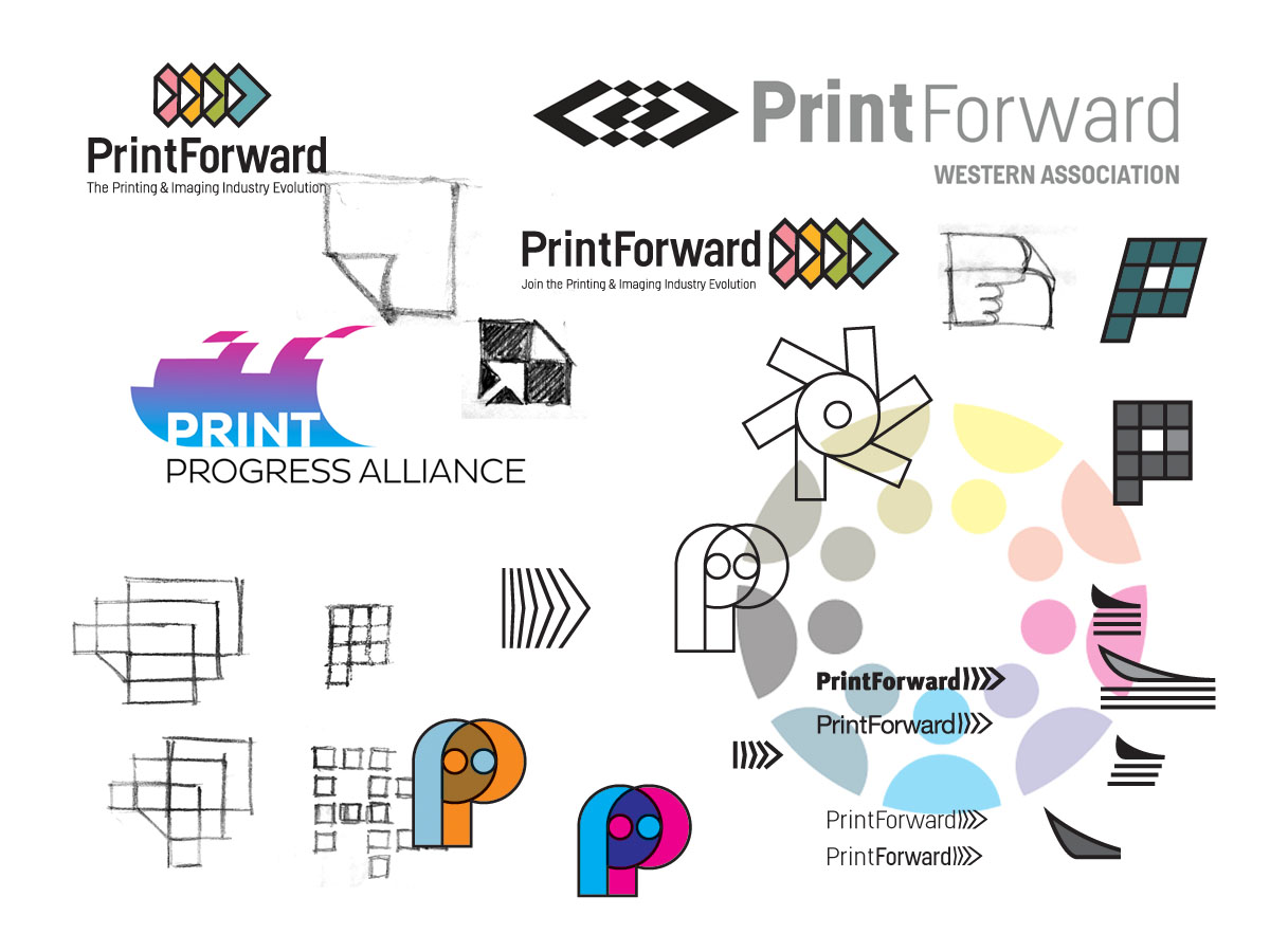 Print Forward logo development