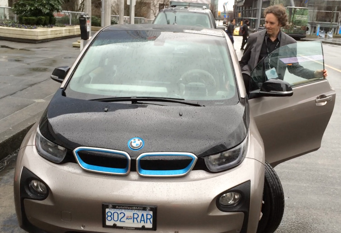 BMW i3 Electric Car at Globe 2016 Vancouver Sustainable Drive