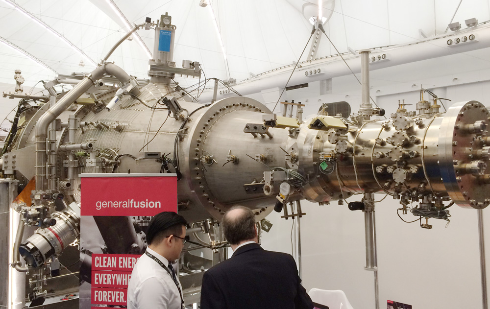 General Fusion machine at Globe 2016 Sustainable Business show