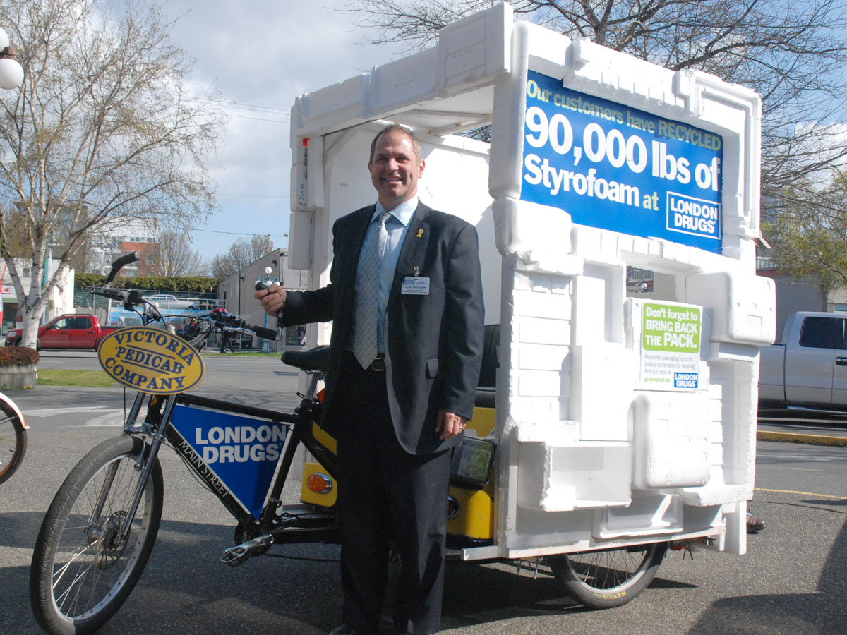 Victoria Mayor with the STyroCycle