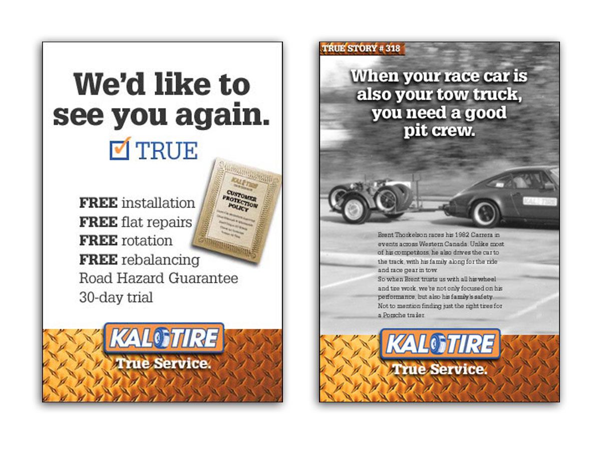 Kal Tire True Service Posters