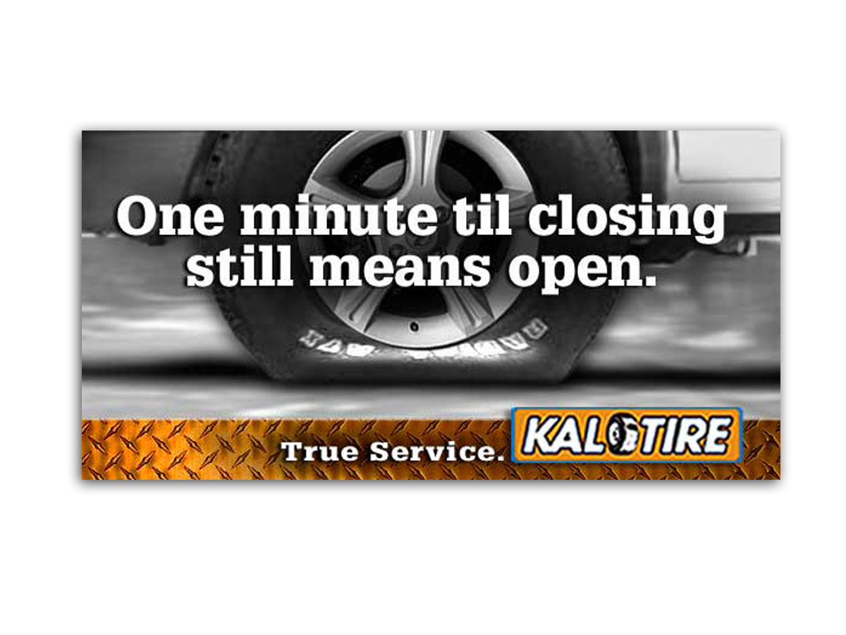 Kal Tire True Service Billboard