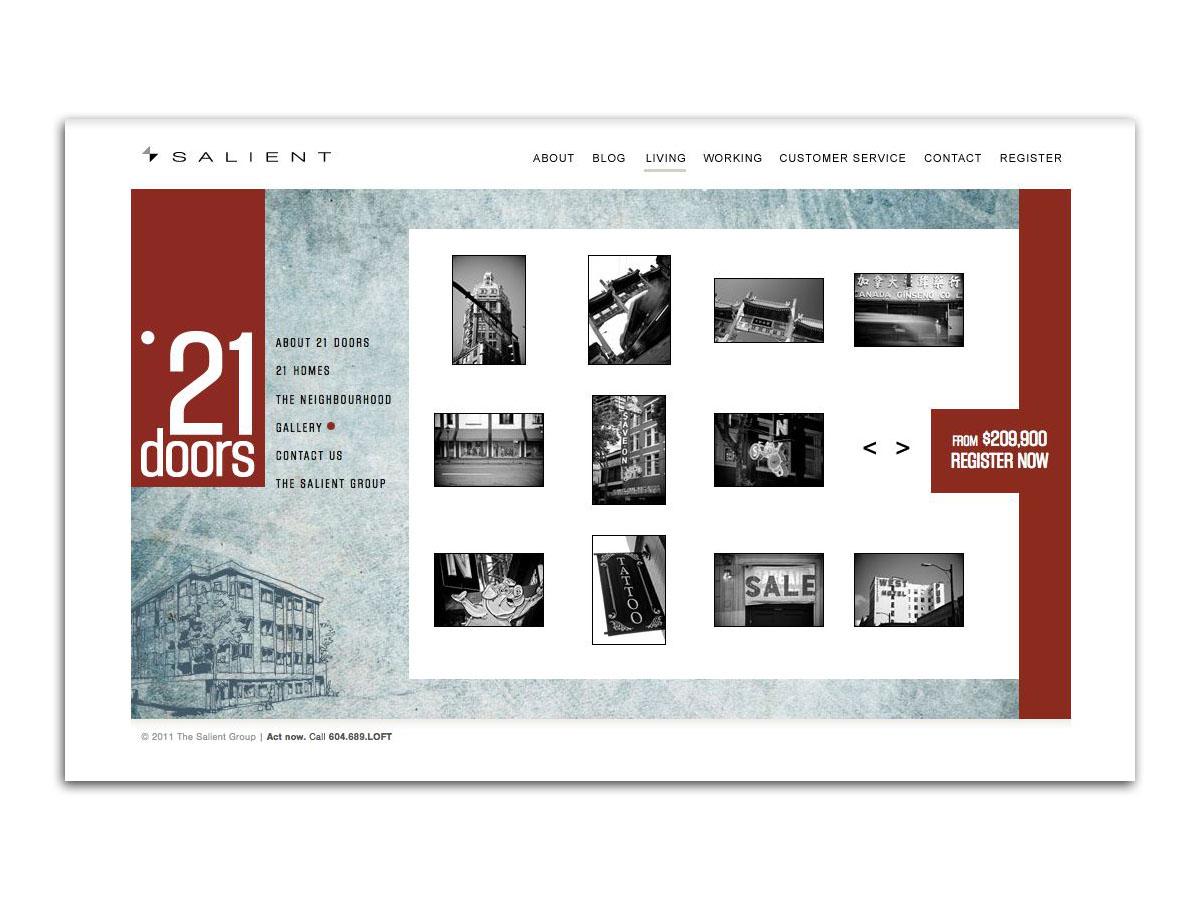 21 Doors website Gallery