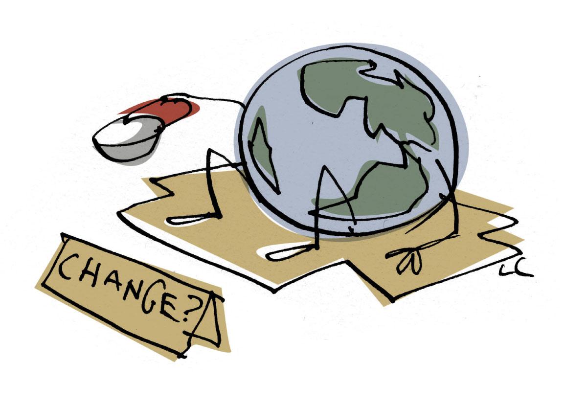 Earth Cange cartoon
