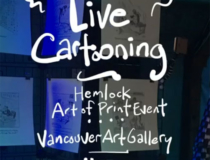 Live cartooning adds animation to Hemlock's Art of Print Event
